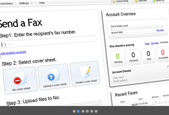 Send Fax with easy to use dashboard