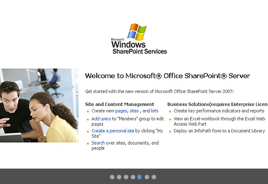 Sharepoint® portal provides an online space in which to discuss company news, projects and documents
